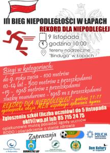 Plakat biegi dla OKF